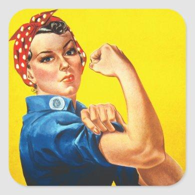 Rosie The Riveter Square Sticker