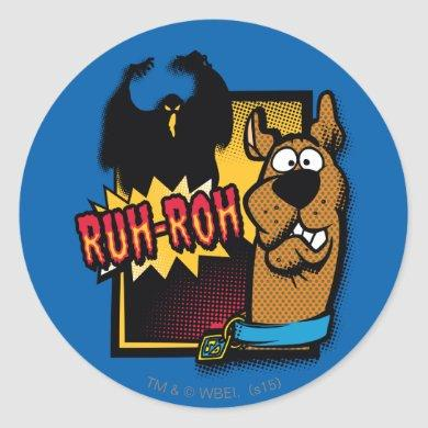 Ruh-Roh Scooby-Doo and a Ghost Classic Round Sticker