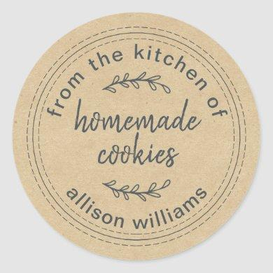 Rustic Homemade Cookies From the Kitchen of Kraft Classic Round Sticker