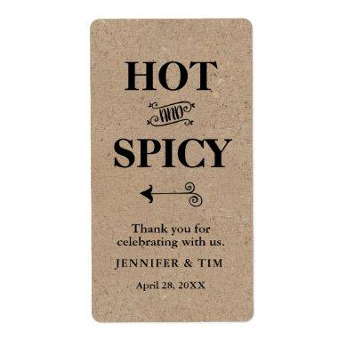 Rustic Kraft Hot and Spicy Jar Label