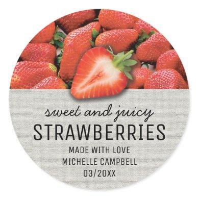 Rustic Strawberry Jam Jar Label