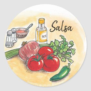Salsa Ball Canning Label