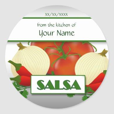 Salsa Canning Custom  Sticker Label