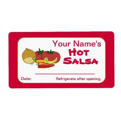 Salsa Custom Canning Jar Stickers Personalized