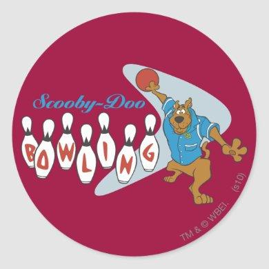 Scooby-Doo Bowling Classic Round Sticker