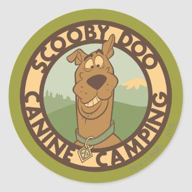 "Scooby-Doo ""Canine Camping"" Classic Round Sticker"