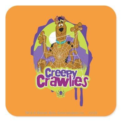 Scooby-Doo Creepy Crawlies Square Sticker