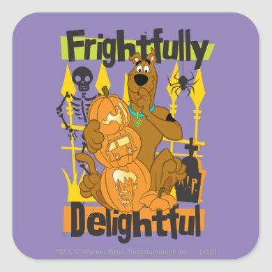 Scooby-Doo Frightfully Delightful Square Sticker