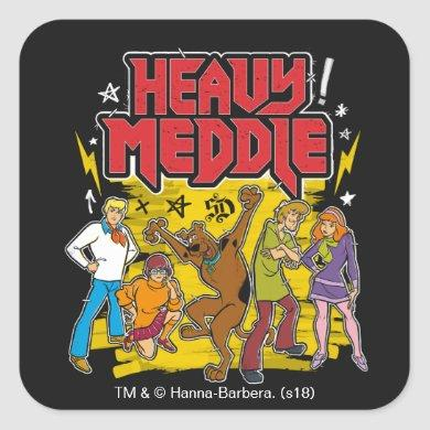 "Scooby-Doo | ""Heavy Meddle"" Graphic Square Sticker"