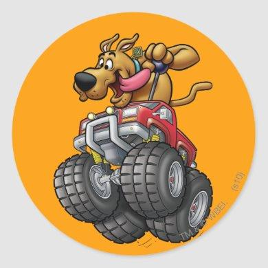 Scooby Doo-Monster Truck Classic Round Sticker
