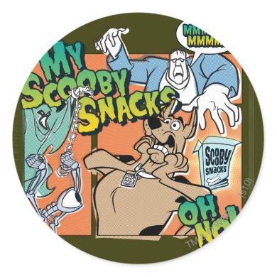 """Scooby-Doo """"My Scooby Snacks"""" Classic Round Sticker"""