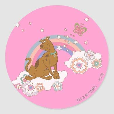 Scooby-Doo Rainbow Butterfly Classic Round Sticker