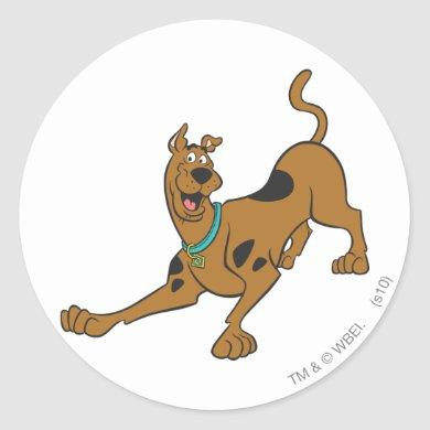 Scooby-Doo Ready To Play Classic Round Sticker