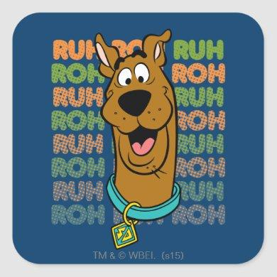 Scooby-Doo Ruh Roh Square Sticker