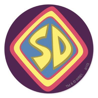 "Scooby-Doo ""SD"" Icon Classic Round Sticker"