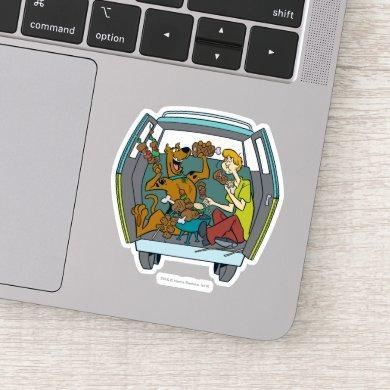 Scooby-Doo & Shaggy In Mystery Machine Sticker