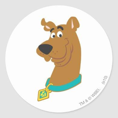 Scooby-Doo Smile Classic Round Sticker