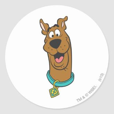 Scooby-Doo Smiling Face Classic Round Sticker