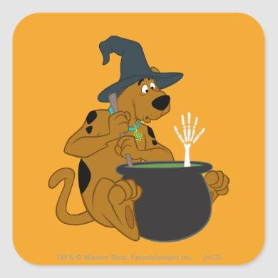 Scooby-Doo Witch's Cauldron Square Sticker
