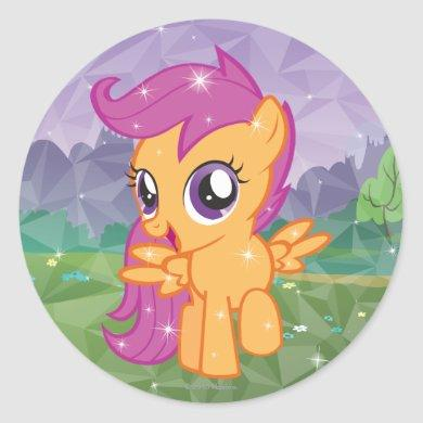 Scootaloo Classic Round Sticker