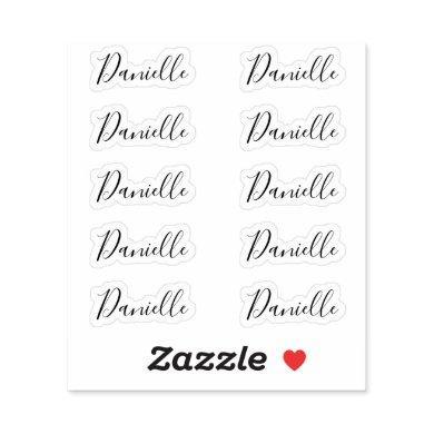 Set of 10 - Elegant Signature Script Name Danielle Sticker