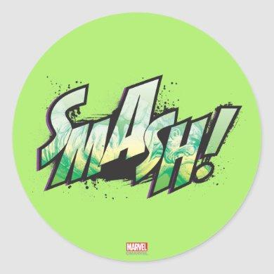 SMASH! Word Graphic Classic Round Sticker