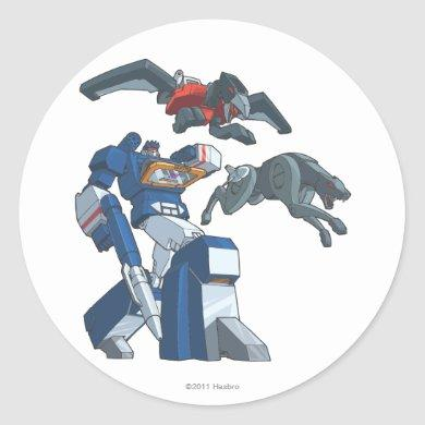 Soundwave 3 classic round sticker