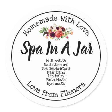 Spa In A Jar Classic Round Sticker