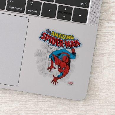 Spider-Man Retro Price Graphic Sticker