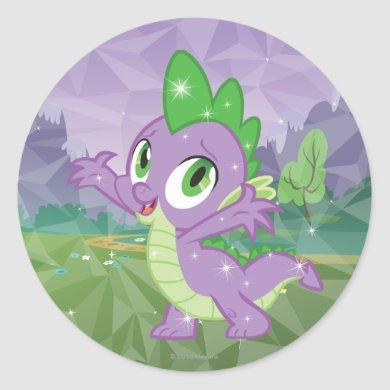 Spike the Dragon Classic Round Sticker