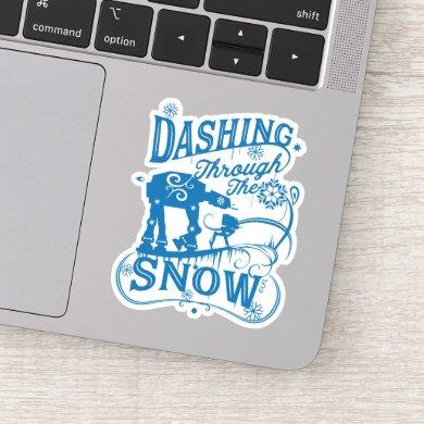 "Star Wars AT-AT & AT-ST ""Dashing Through The Snow"" Sticker"