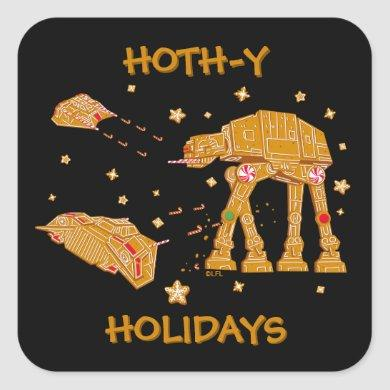 Star Wars Battle of Hoth Cookies Square Sticker