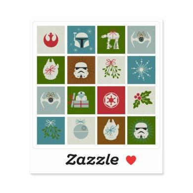 Star Wars Christmas Icon Pattern Sticker