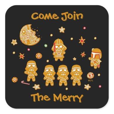 Star Wars Dark Side Cookies Square Sticker