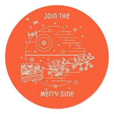 Star Wars Holiday Sith Sleigh Ride Classic Round Sticker