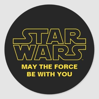 Star Wars Lined Logo Classic Round Sticker