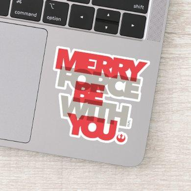 "Star Wars ""Merry Force Be With You"" Sticker"
