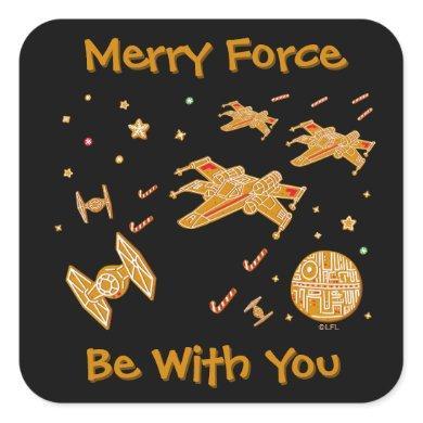 Star Wars Rebel X-Wing Cookies Square Sticker