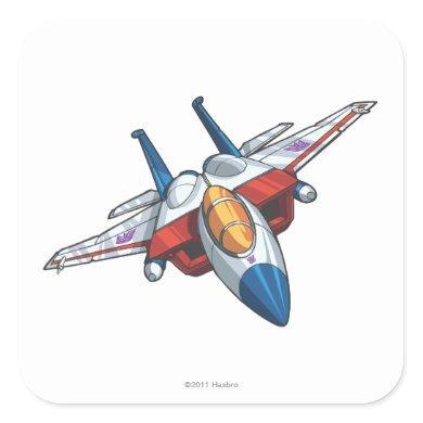 Starscream Jet Mode Square Sticker
