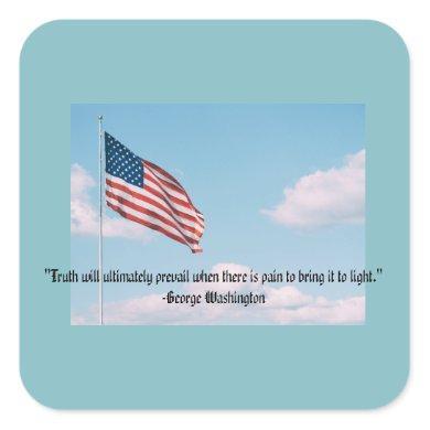 Sticker George Washington: Truth