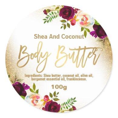 Sticker Label For Homemade Body Butter
