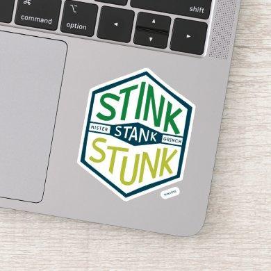 Stink Stank Stunk Badge Sticker