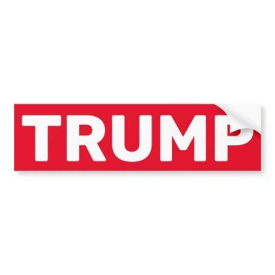Stop Sign Addendum, Stop Trump Bumper Sticker