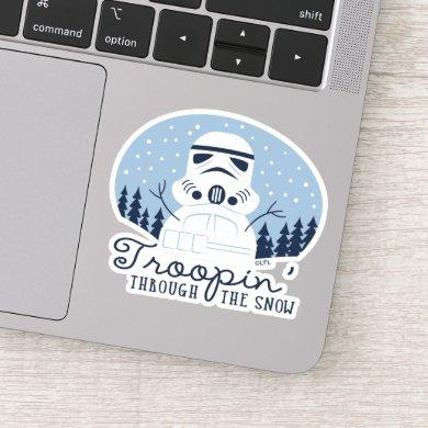"Stormtrooper Snowman ""Troopin' Through The Snow"" Sticker"