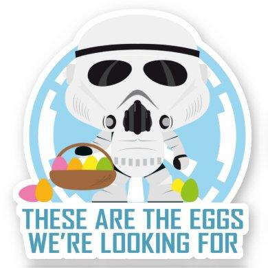 Stormtrooper: These Are The Eggs We're Looking For Sticker