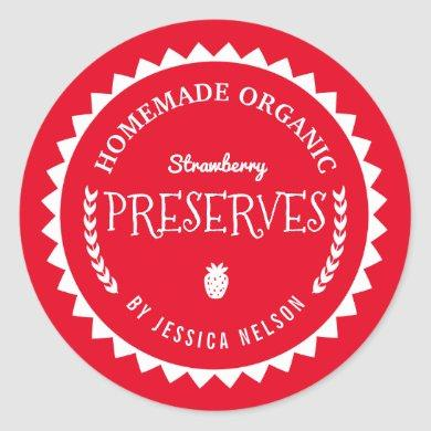 Strawberry Jam Preserves Food Gift Kitchen Sticker