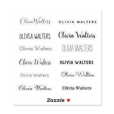 Stylish Name Sticker