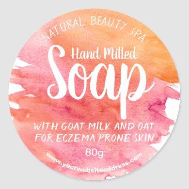 Sunset Watercolor Soap Labels