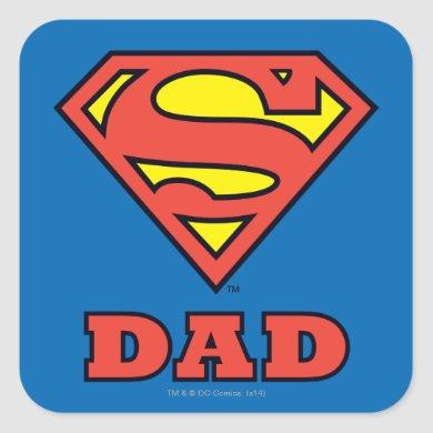 Super Dad Square Sticker