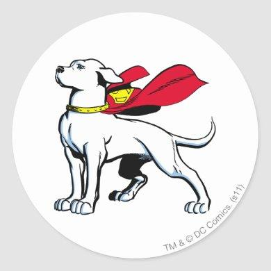 Superdog Krypto Classic Round Sticker